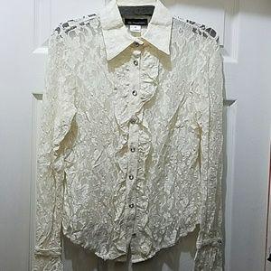 Lace peek a boo blouse by I.N.C.